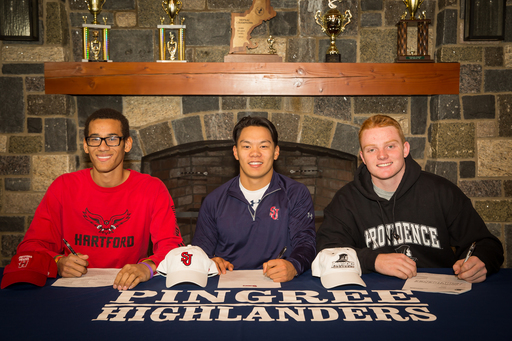 Eight Pingree Seniors Commit to Collegiate Sports On National Letter of Intent Signing Day