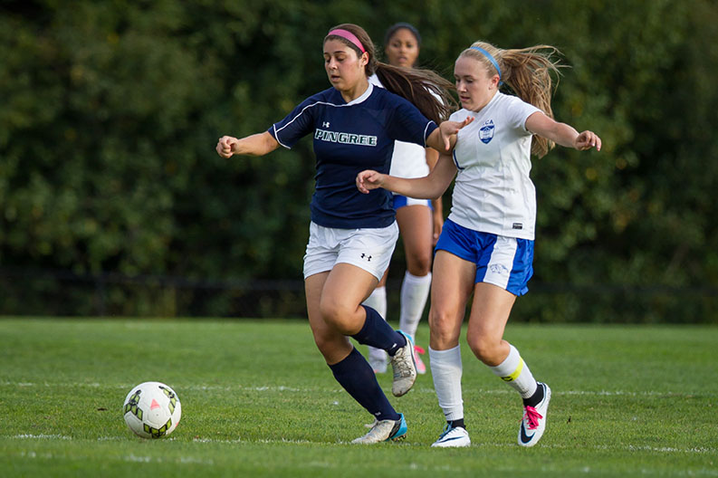 Pingree Girls Soccer Action Shot