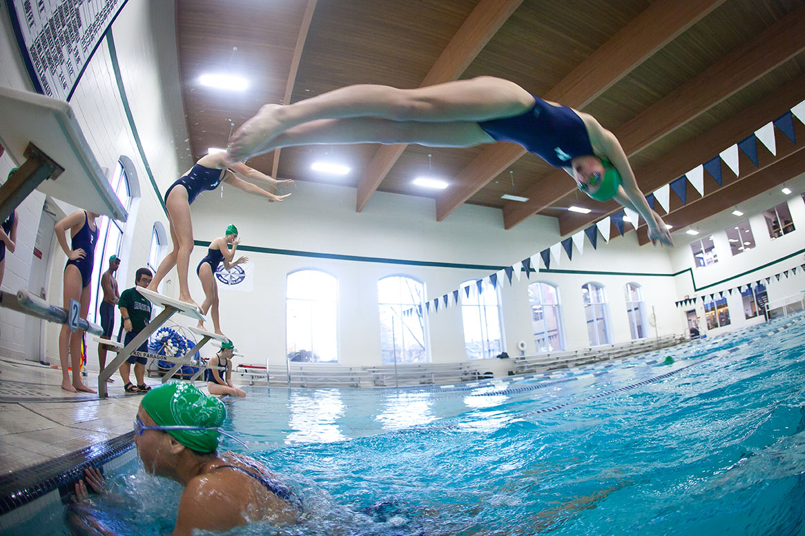 Trophy case pingree pingree for John jay college swimming pool